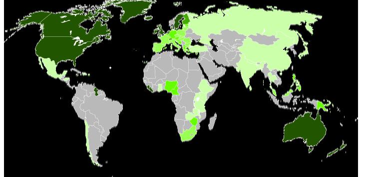 世界の英語圏