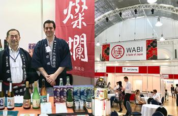 ロンドンの日本食展示会(WABI)にて日本酒燦爛と望のテイスティングとセールス