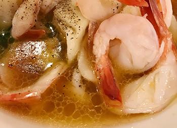 ハラール和食(エビと日光軒の餃子)
