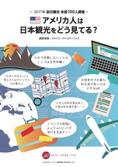 調査 アメリカ人は日本観光をどう見てる?