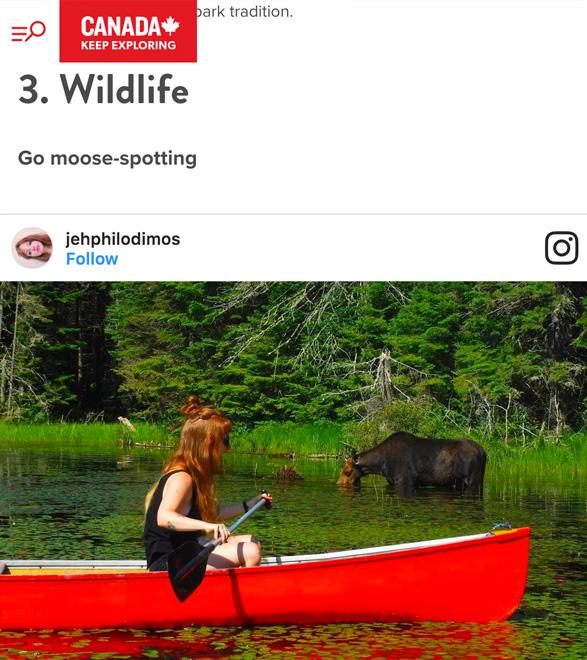 世界のDMO - カナダ観光協会のウェブサイト