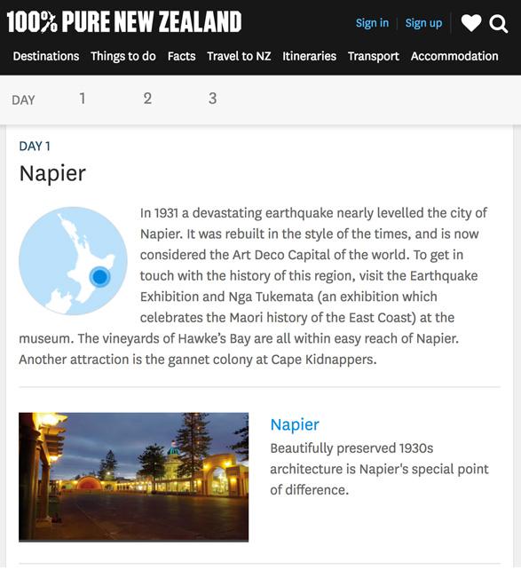 世界のDMO - ニュージーランド観光協会のウェブサイト